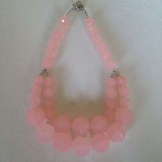 Chunky Short Pink Necklace