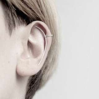 HUNG :: 極簡線型耳掛耳夾耳環 ( 無須耳洞 )