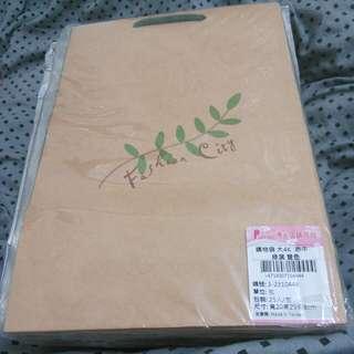綠葉紙袋(20*29*8cm) 共42個賣250元