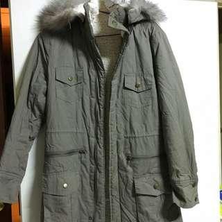 保暖軍裝內鋪毛大衣外套