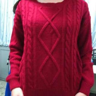 🌹麻花短版毛衣