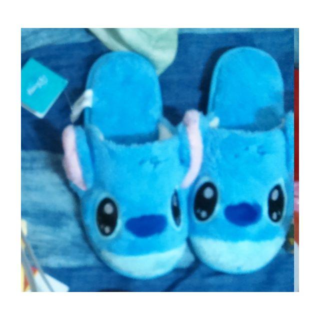 史迪奇絨毛拖鞋(尺寸為27X11公分)