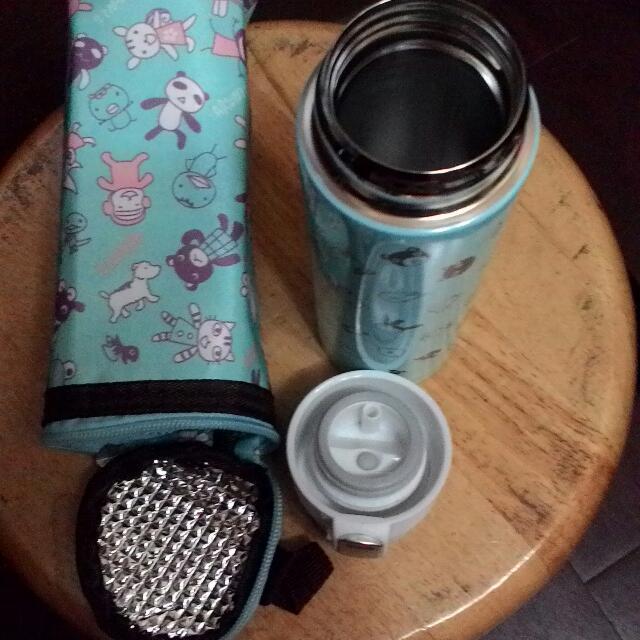 阿朗基350ml不鏽鋼保溫瓶+保溫袋