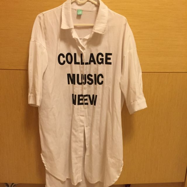 『📢📢含運』字母長版白襯衫