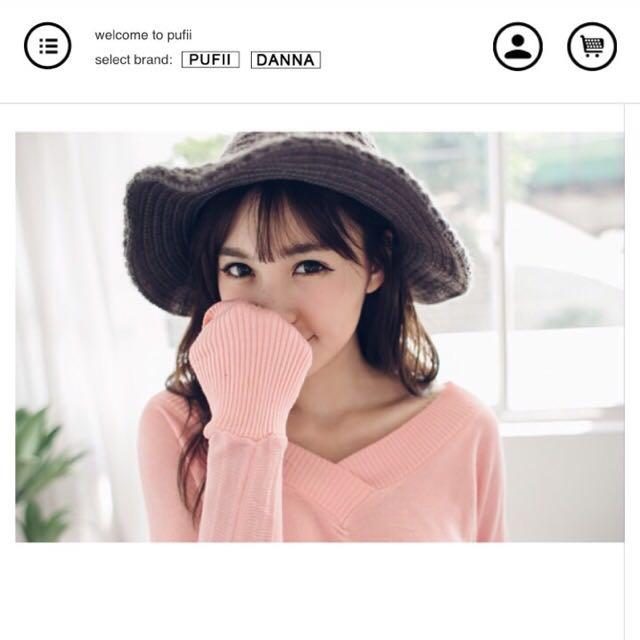 💅灰色針織帽(全新)