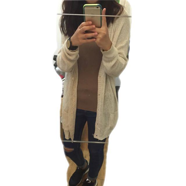 Fi二手衣物🍭杏色針織外套