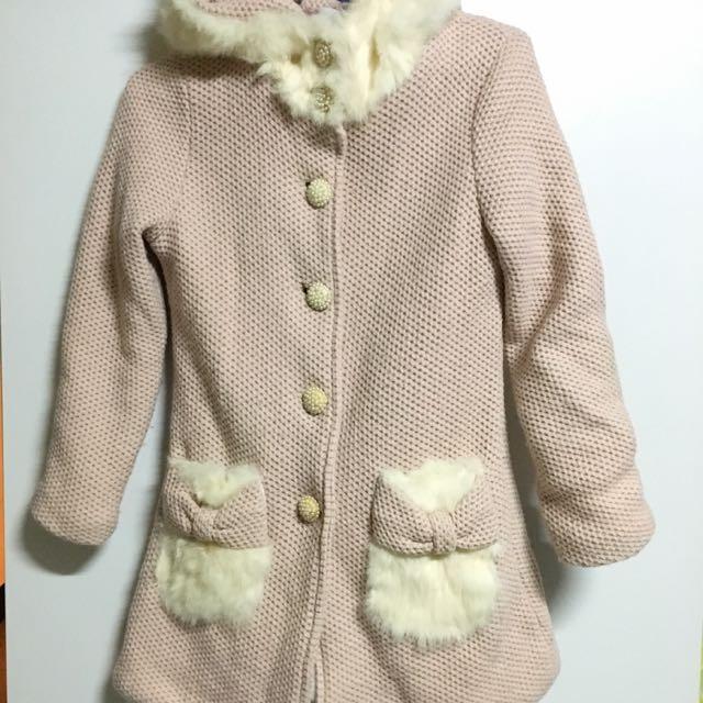 日系珍珠釦氣質大衣外套