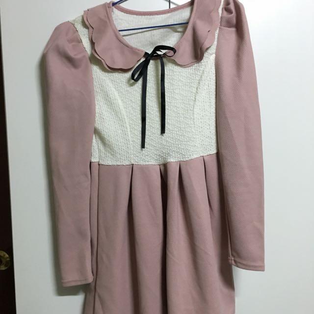 日系學院風連身小洋裝