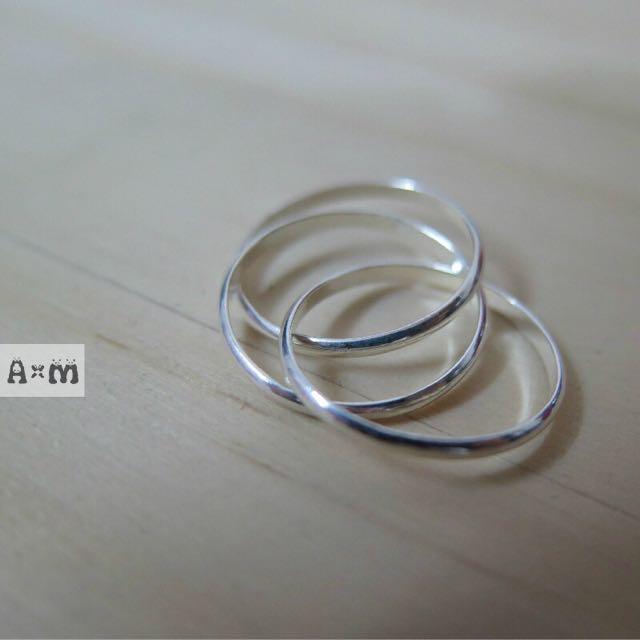三環戒 925全純銀系列