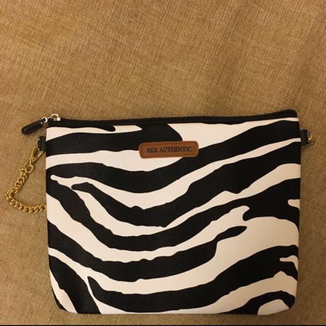 [全新]泰國購入 黑白斑馬紋小包