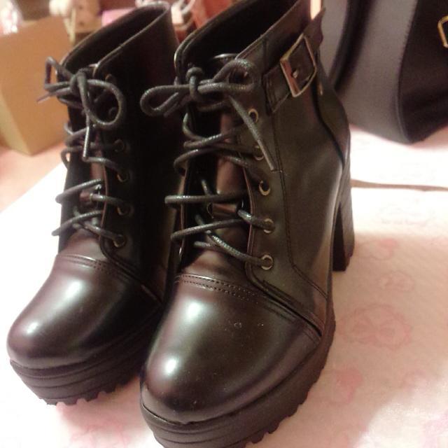 極新! 高跟厚底靴