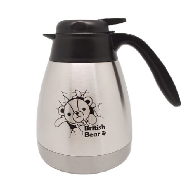 英國熊辦公咖啡壺 不銹鋼 700ML