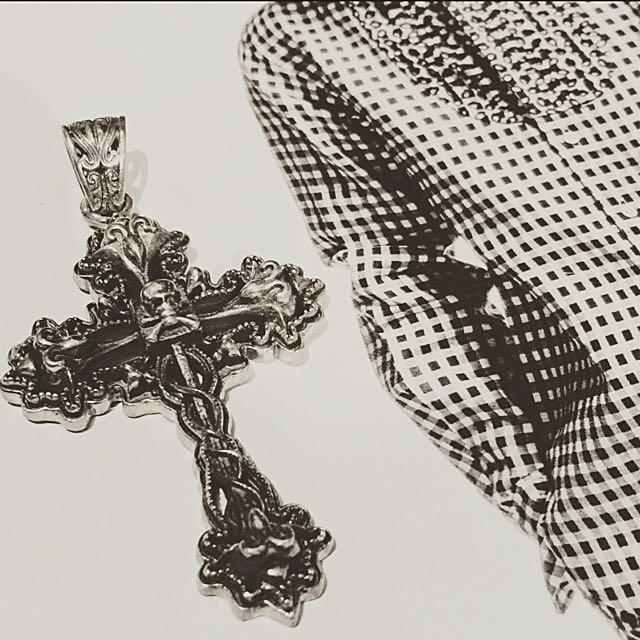 國外帶回 華麗風格十字架 純銀925