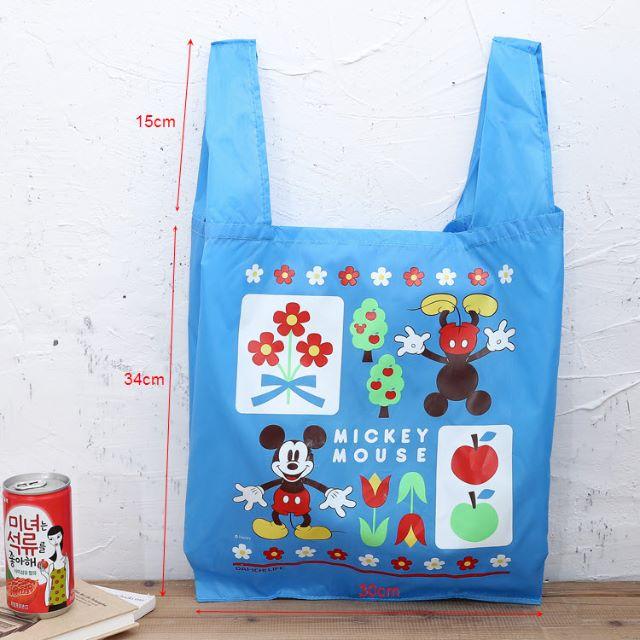 日雜附錄  藍色米奇     折疊便攜購物袋環保袋