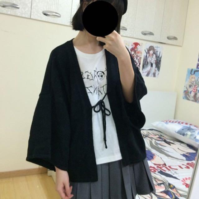 🎀降價 日本 和服 罩衫 開襟式外套 原宿 針織 東京
