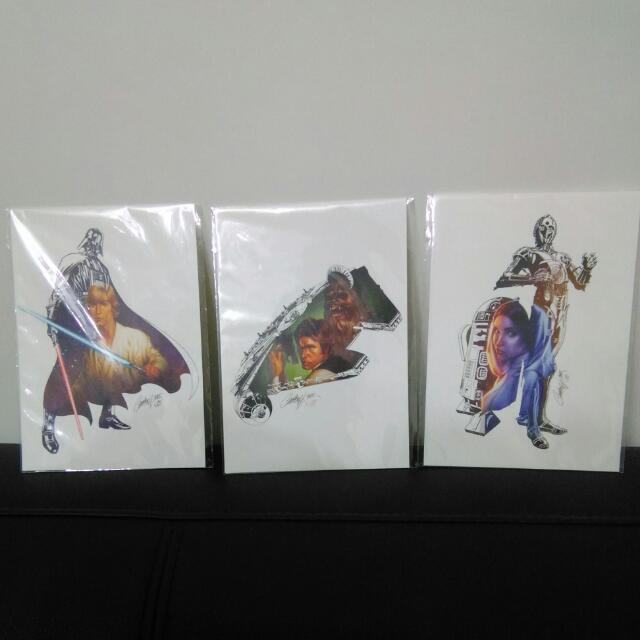 星際大戰 Star wars 人物簽名明信卡 收藏價值高