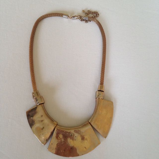 Antique Gold Aztec Necklace