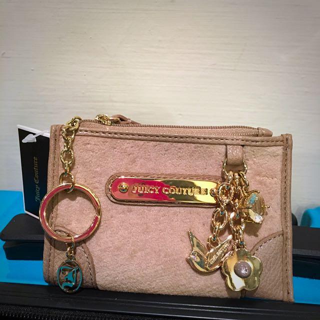 Juicy Couture 零錢包 小包 卡其灰X金色 全新 禮物