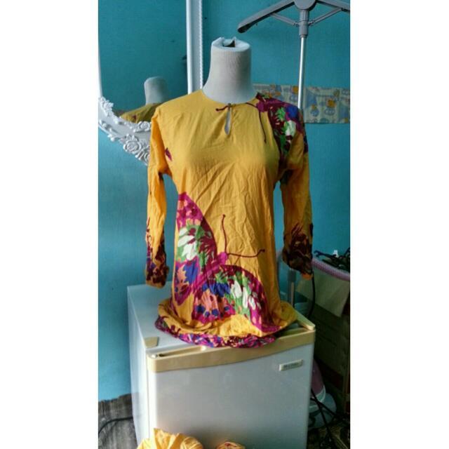 Kurung Cotton Butterfly Print