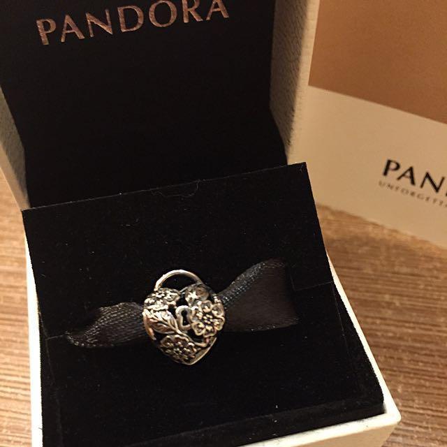 Pandora floral padlock