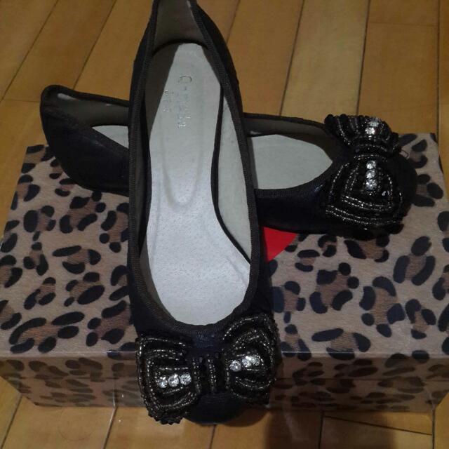 Q-mada 蝴蝶結平底娃娃鞋