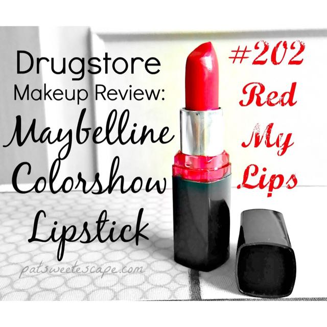 59dd5363096b Red My Lips Lipstick 202 - Color Show By Maybelline