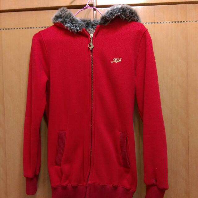 正紅長版外套s號 日本