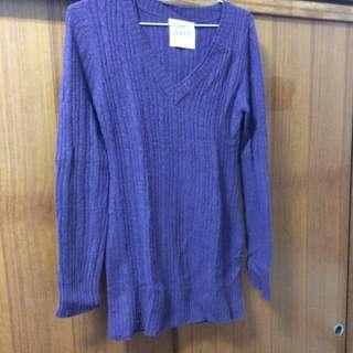 二手)紫色連身毛衣