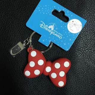 全新迪士尼- 米妮 鑰匙圈 蝴蝶結指甲剪
