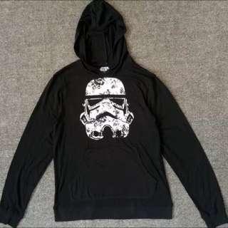 Star Wars星際大戰薄款黑色連帽長袖衫