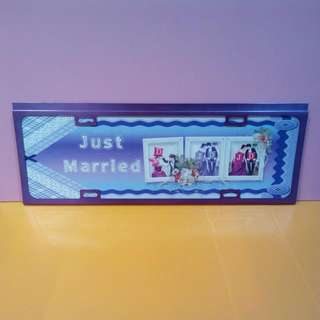Long Customise Just Married Car Plate /Door Sign /Wall Decoration