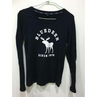 (二手) American Bluedeer 麋鹿深藍素面TEE 上衣