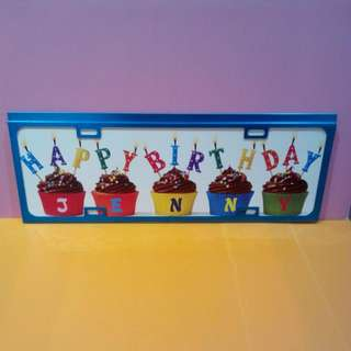 Long Customise Birthday Car Plate /Door Sign /Wall Decoration Plate