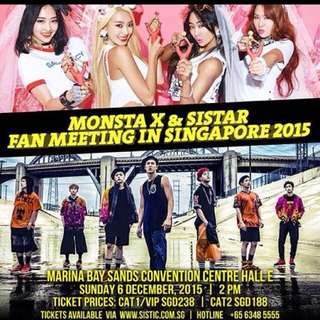 Monsta X x Sistar Fanmeeting In Singapore