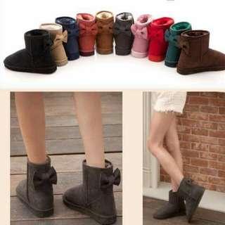 蝴蝶結雪靴 可愛 日系 防潑水 保暖
