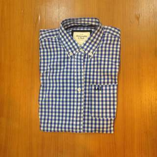 降✨Abercrombie&Fitch AF A&F長袖格子襯衫