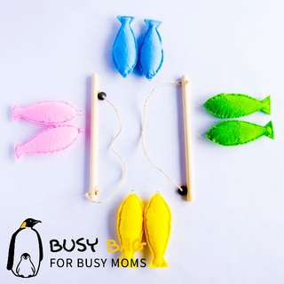 Toys & Hobbies Initiative Baby Educational Toys 32pcs Fish Wooden Magnetic Fishing Toy Set Fish Game Educational Fishing Toy Child Birthday/christmas Gift