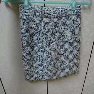 EMODA藍綠 花紋 針織 窄裙