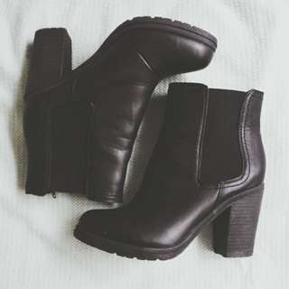 GEORGE Black Ankle Boots Size 6/39