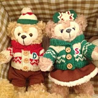 聖誕節限量版 達菲熊 雪莉梅 聖誕節達菲 聖誕節雪莉梅 Duffy ShellieMay 站姿 別針吊飾 交換禮物