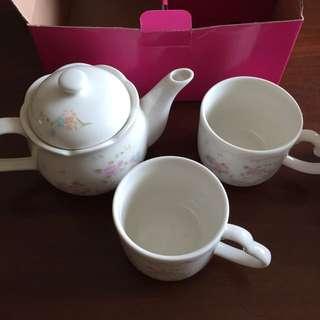 甜美的❤️造型下午茶茶壺杯組