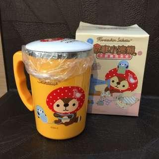 7-11 集點加購家事小浣熊不鏽鋼泡茶杯(毛線款)