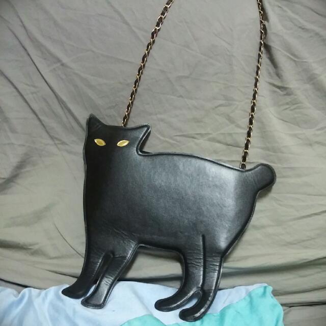 黑貓造型鏈條包
