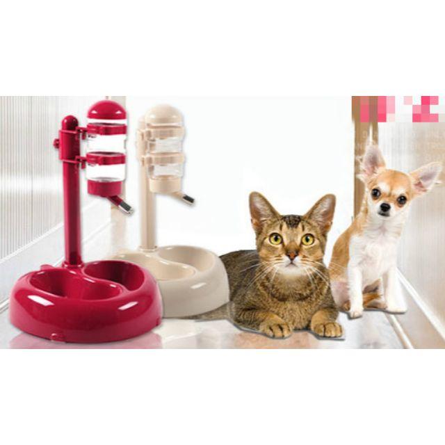 寵物飲水器雙食盆