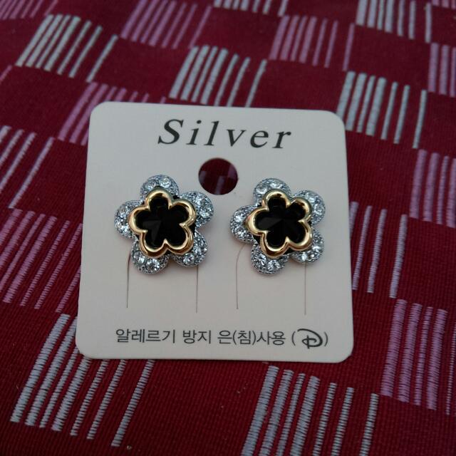 韓劇質感純銀針耳環