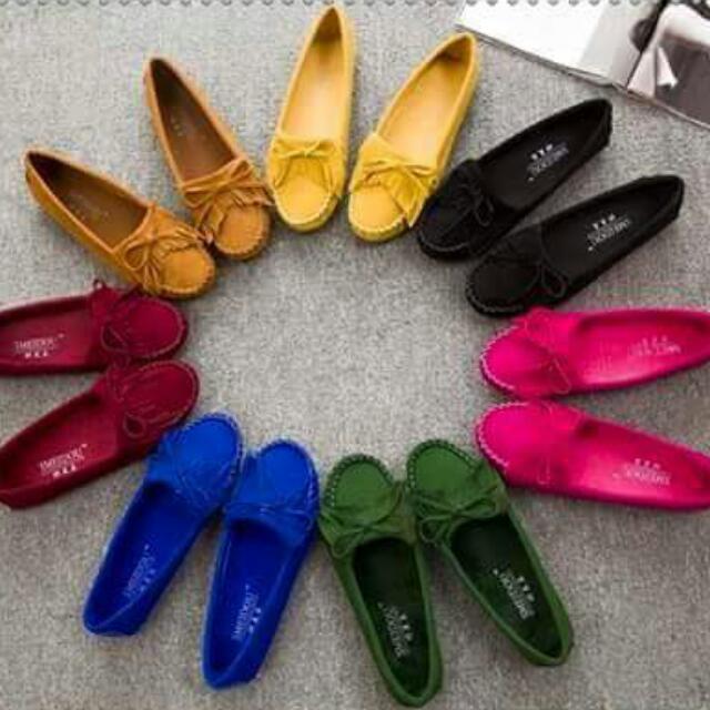 蝴蝶結圓頭豆豆鞋