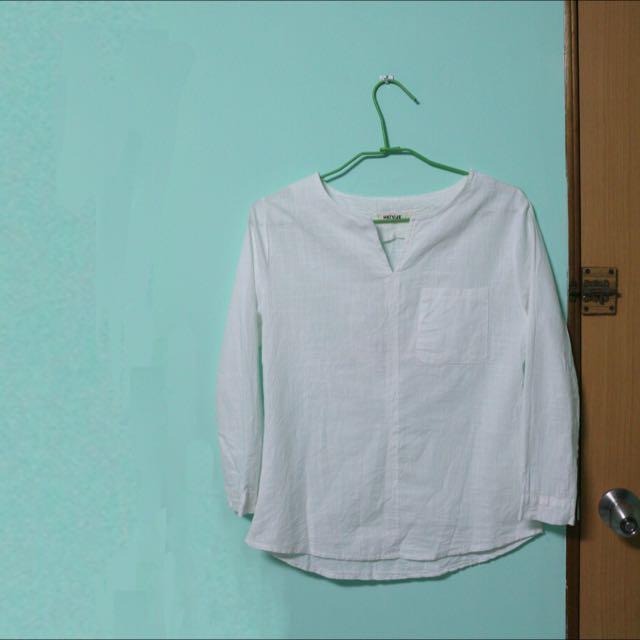 全新❤️棉麻七分袖上衣
