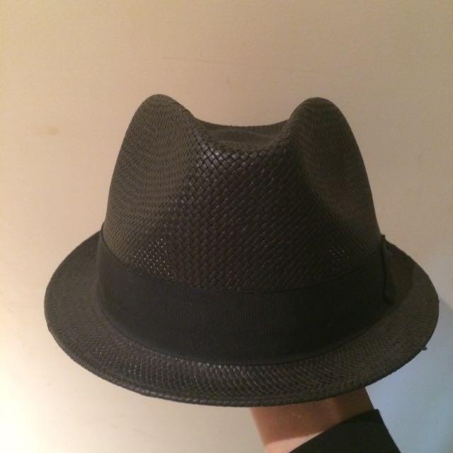 竹編帽 紳士帽