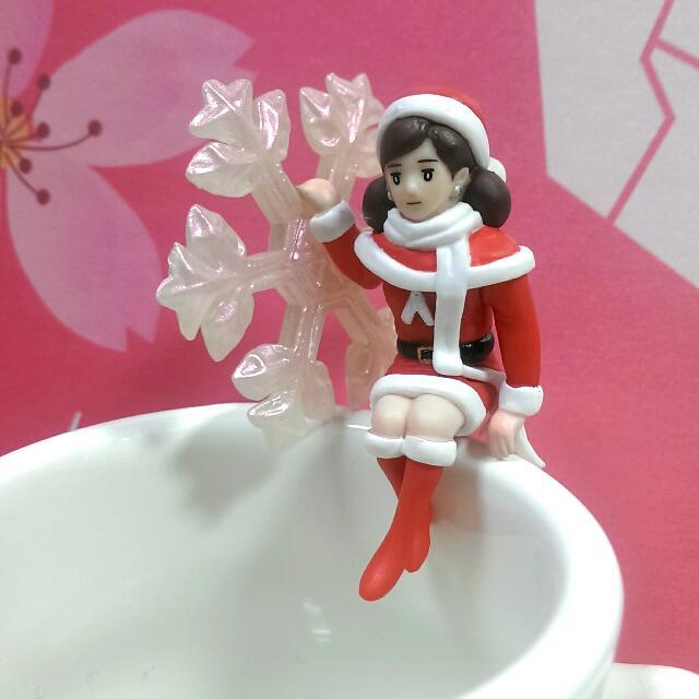 全新 聖誕 杯緣子(雪花)