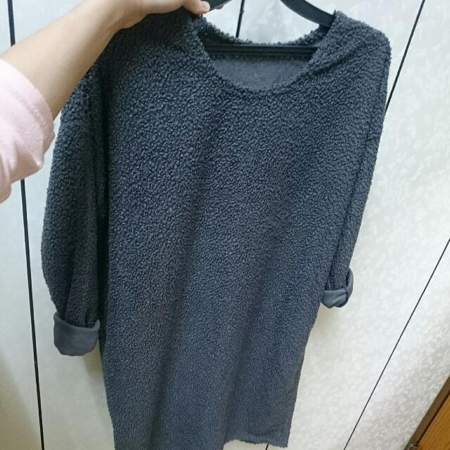 🎉毛料 灰色 單件洋裝